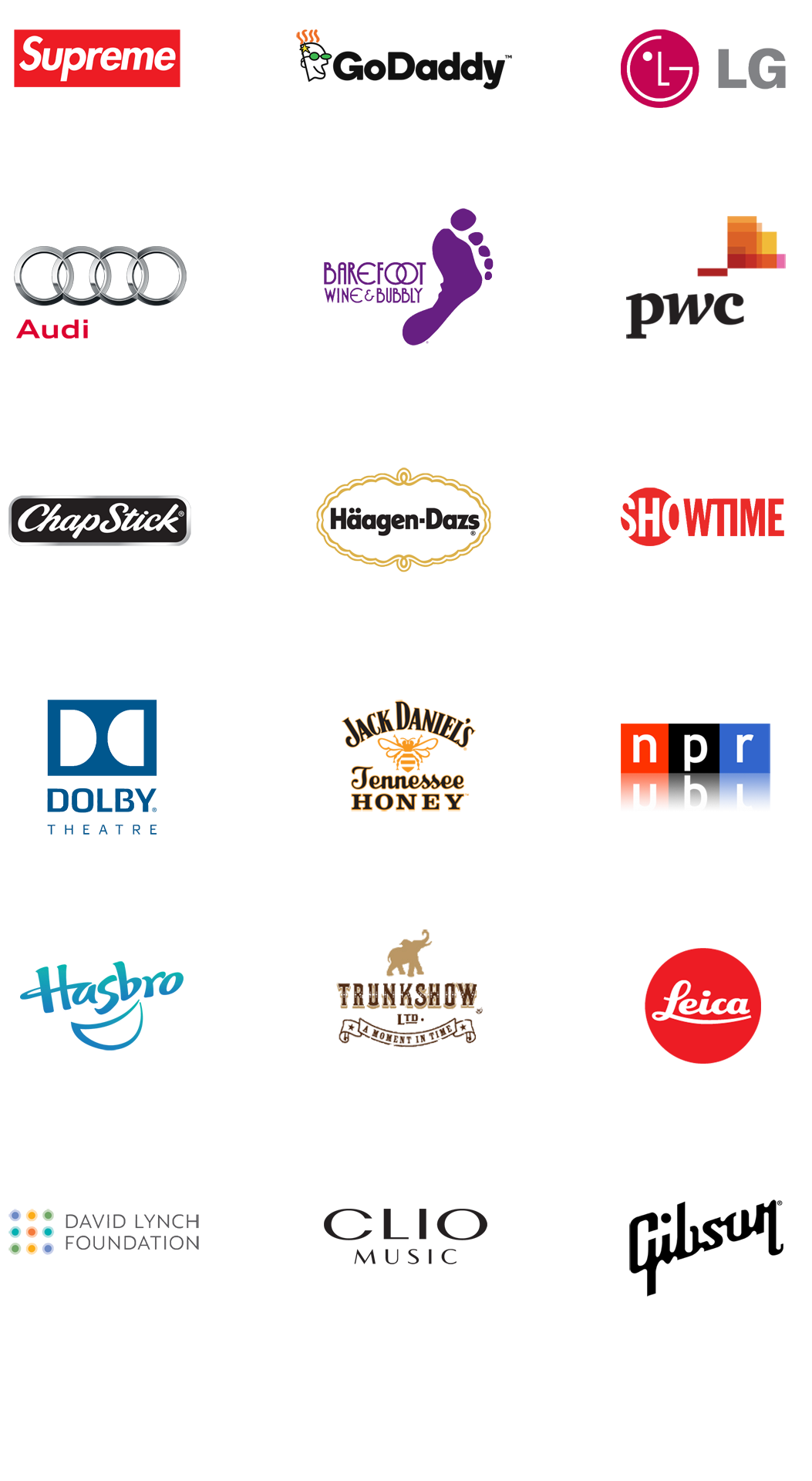 Boss Sounds client logos