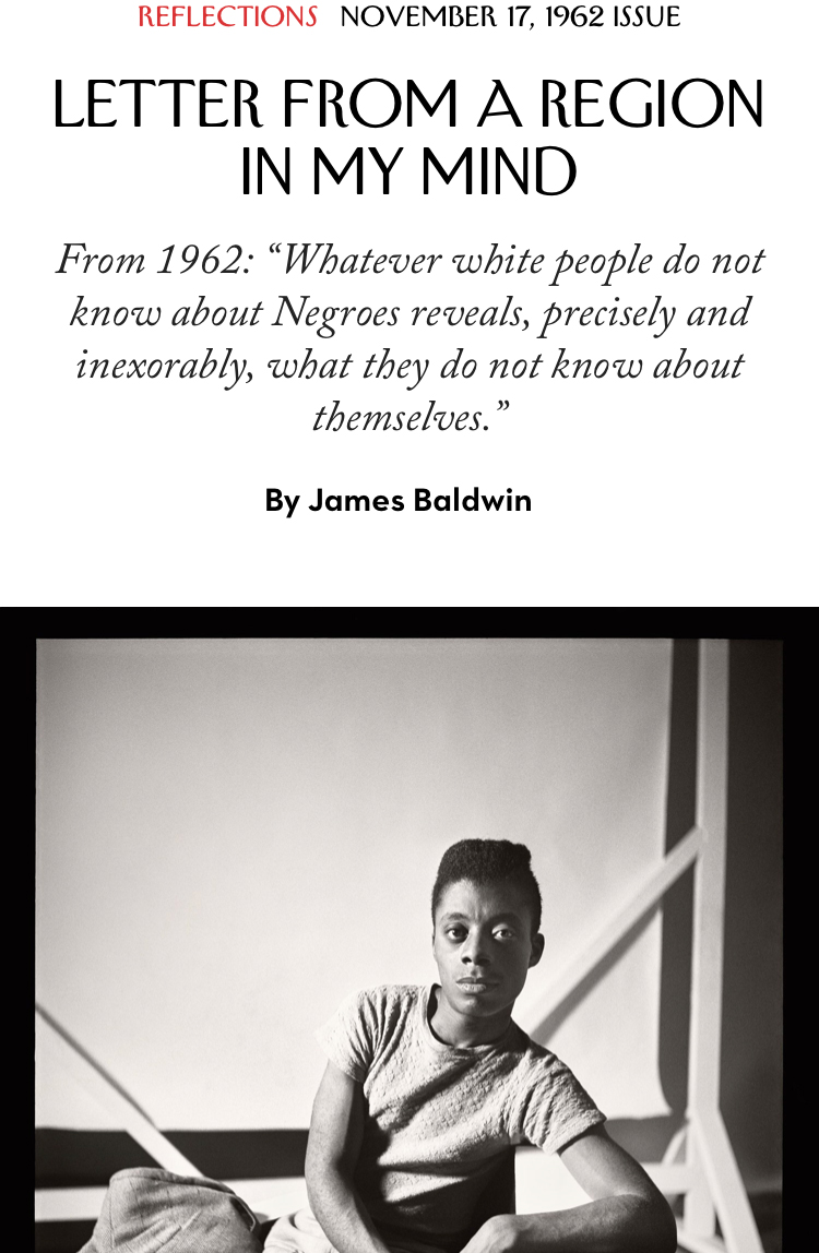 James Baldwin - The New Yorker '62